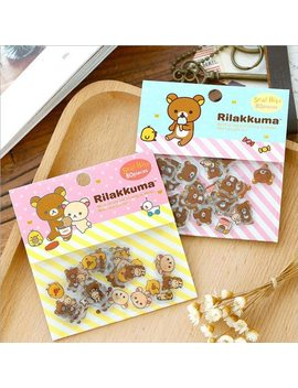 80 Pcs/Lot Cute Rilakkuma Mini Paper Stickerbag Diy Diary Planner Decoration Sticker Album Scrapbooking Kawaii Stationery by He Dao