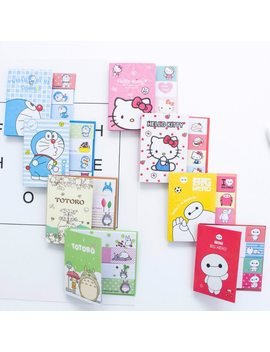 Hello Kitty Totoro Doraemon Baymax Stickers Kawaii Self Adhesive Sticky Notes Stationery Planner Memo Pad Cute Papeleri 01963 by Noverty