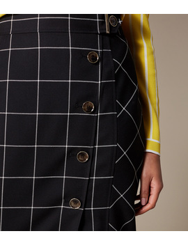 Check Midi Pencil Skirt by Se008
