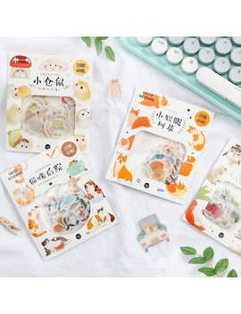 40 Pcs/Lot Kawaii Corgi Cat Rabbit Hamster Diary Journal Animal Stickers Scrapbooking Paper Cute Stationery Scrapbook Supplies by Gimue