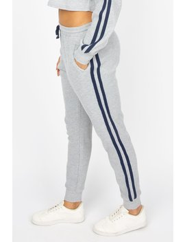 Womens Waffle Jogger With Side Stripe by Bluenotes
