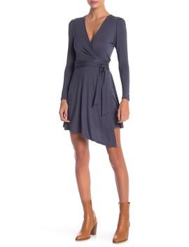 Solid Knit Wrap Dress by Anama