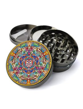 Aztec Design Extra Large 5 Piece Spice Tobacco Herb Grinder With Pollen/Keef Catcher For Herb Grinders by Etsy