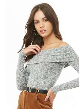 Off The Shoulder Raglan Sleeve Top by Forever 21