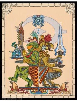"Master Chief And Arbiter Inspired Art Prints, ""Gods Among"", 16x20 Or 11x14 Art Print, Halo, Cortana, 343 Guilty Spark, Maya, Mayan by Etsy"