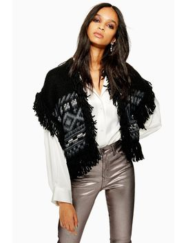 Fringed Waistcoat by Topshop