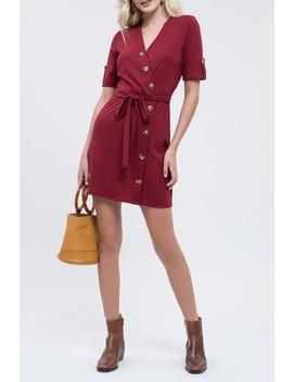Wrap Style Button Dress by Blu Pepper