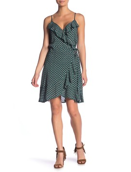 Dillon Printed Wrap Ruffle Dress by Band Of Gypsies