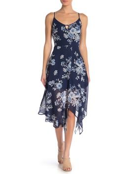 Chiffon Keyhole Floral Dress by Love, Nickie Lew