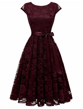 Bery Love Women's Floral Lace Short Bridesmaid Cocktail Dress by Amazon