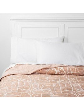 Watercolor Linework Quilt Blush   Project 62™ + Nate Berkus™ by Shop This Collection