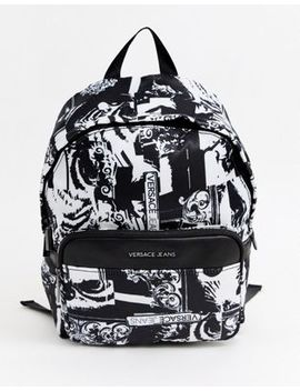 Versace Jeans Backpack With All Over Print by Versace Jeans