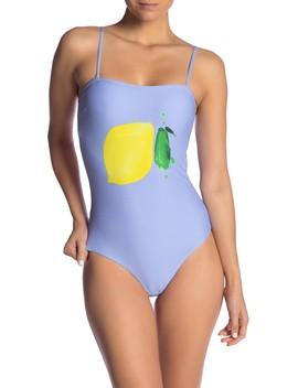 Estelle Textured Lemon One Piece Swimsuit by Onia