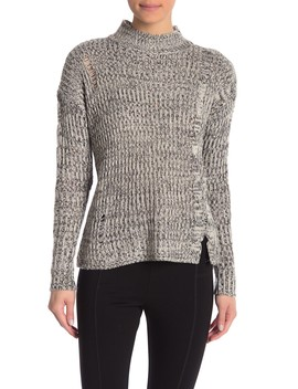 Marled Mock Neck Sweater by Romeo & Juliet Couture