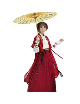Chinese National Folk Dance Costume Ancient Han Dynasty Swordsman Cosplay Women Hanfu Outfit Princess Lady Tang Dynasty Clothing by Daxico