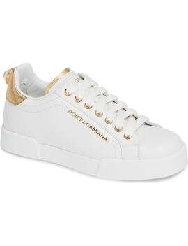 Portofino Embellished Sneaker by Dolce&Gabbana