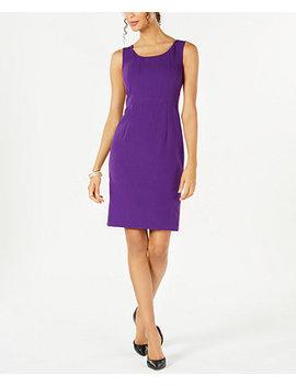 Sleeveless Jewel Neck Sheath Dress by Kasper