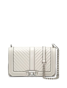 Chevron Quilted Leather Love Crossbody Bag by Rebecca Minkoff