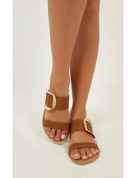 Billini   Chania Sandals In Tan Pebble by Showpo Fashion