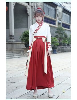 Chinese Traditional Hanfu Dress For Women Ancient Costume Women Princess Dance Clothing  Tang Dynasty Outfit Dancewear by Daxico