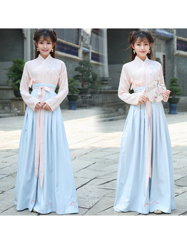 Chinese Traditional Hanfu Cosplay Costume Ancient Han Dynasty Stduent Stage Show Dress Chinese Folk Dance Outfit Tang Dynasty by Daxico