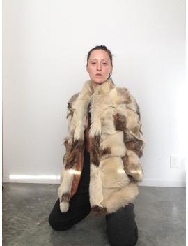 Bias Patch Fur Coat by Etsy