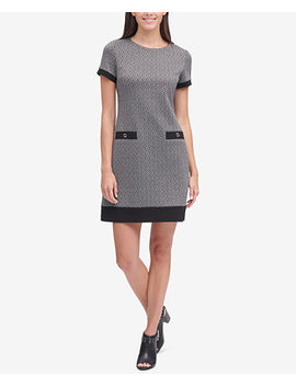 Printed Faux Pocket Shift Dress by Tommy Hilfiger