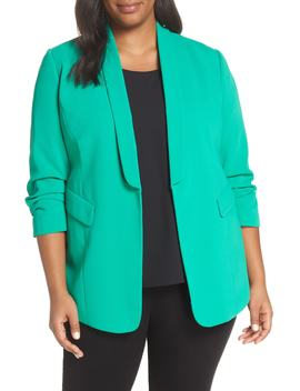 Gathered Sleeve Blazer by Sejour