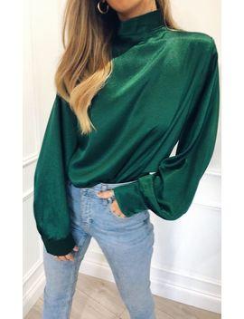 Elsie Blouse   Green by Pretty Lavish