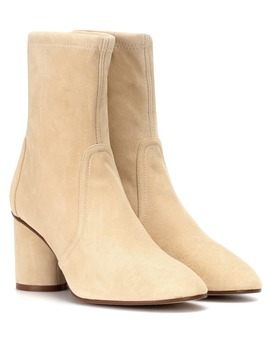 Margot 75 Suede Ankle Boots by Stuart Weitzman