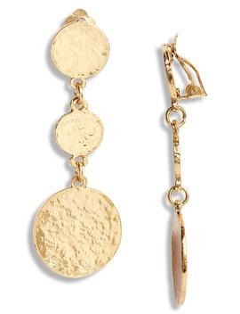 Linear Drop Earrings by Karine Sultan