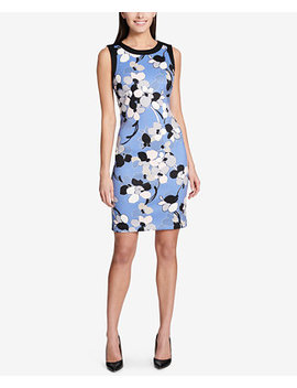 Floral Printed Sheath Dress by Tommy Hilfiger