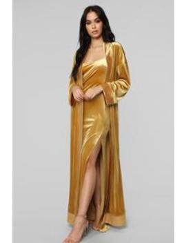 Rich Taste Velvet Dress Set   Mustard by Fashion Nova