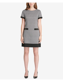 Houndstooth Print Shift Dress by Tommy Hilfiger