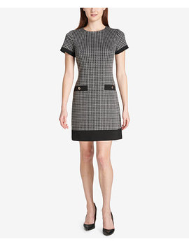 Jacquard Pocket Dress, Created For Macy's by Tommy Hilfiger