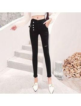 Denimot   High Waist Cropped Skinny Jeans by Denimot
