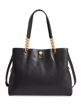 Lily Leather Top Handle Satchel by Tory Burch