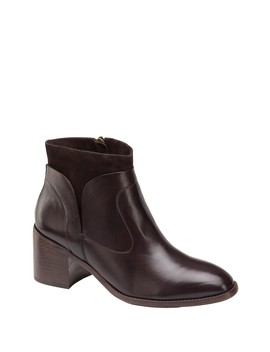 Trinity Leather & Suede Bootie by Johnston & Murphy