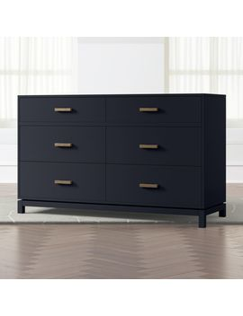 Kids Parke Navy Blue 6 Drawer Dresser by Crate&Barrel