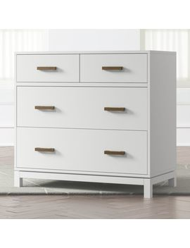 Kids Parke White 4 Drawer Chest by Crate&Barrel