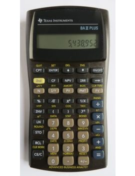 Texas Instruments Ba Ii Plus Advanced Business Analyst Calculator With Cover by Texas Instruments