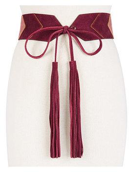 Deco Glam Suede Tassel Waist Belt by Michael Michael Kors
