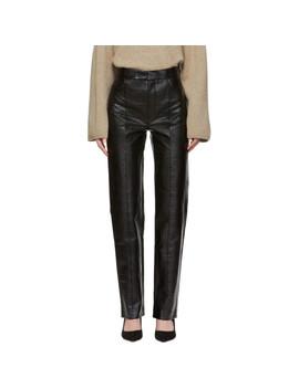 Black Lacquer Olbia Trousers by TotÊme