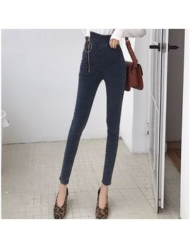 Ever After   High Waist Asymmetric Skinny Jeans by Ever After