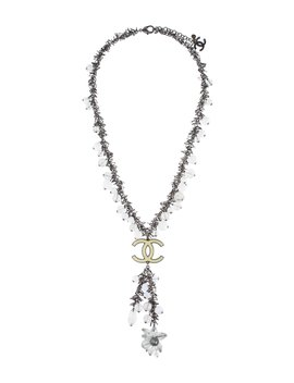 Gripoix, Enamel & Bead Lavalier Necklace by Chanel
