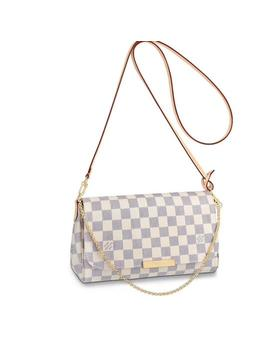 Favorite Mm Damier Azur Canvas Cross Body Bag by Louis Vuitton