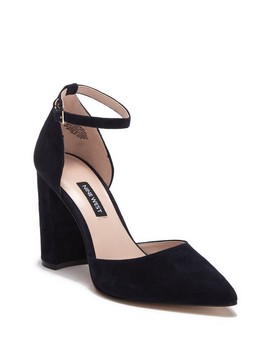 Ailamina Suede Pointed Toe Pump (Women) by Nine West