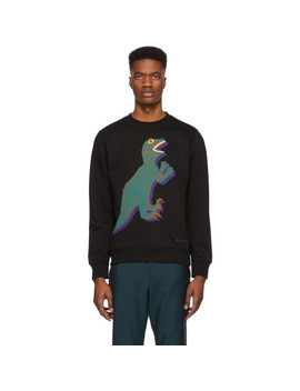 Black Organic Large Dino Sweatshirt by Ps By Paul Smith