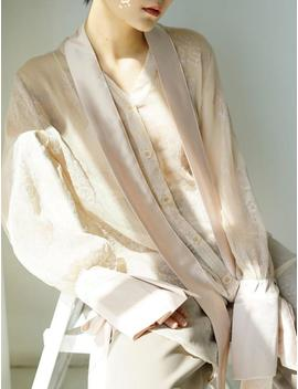 La Chic Parisienne Collection Nude Sheer Transparent Shirt by Etsy