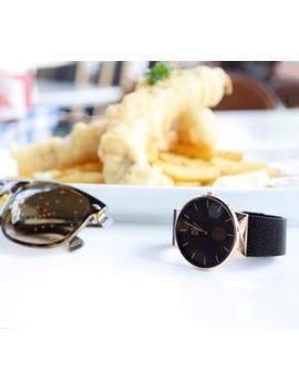 Watches V1   Minimal Rg&B by Rose Gold & Black